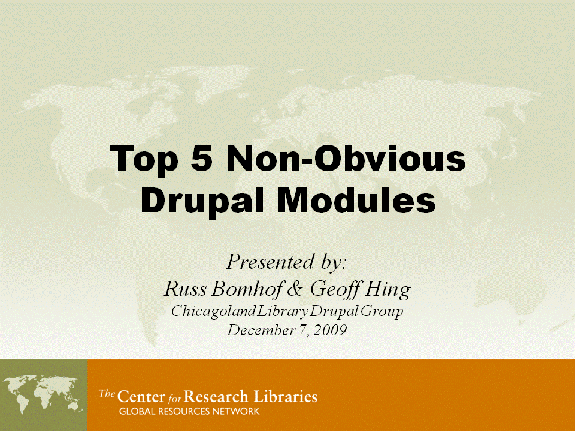 The Top 5 Non-Obvious Drupal Modules