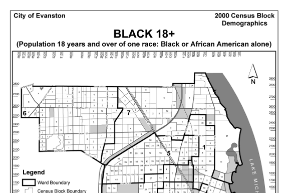 Evanston Total Population 18 & over - Black