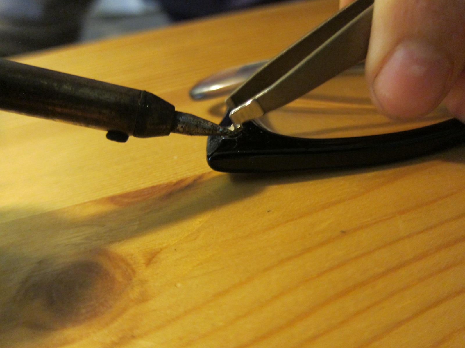 Glue Broken Glasses Frames : Replacing hinge in plastic-framed glasses :: the reality ...