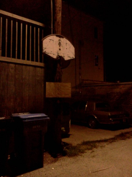 Homemade basketball hoop, Humboldt Park