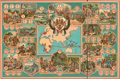 German Colonial Game, ca. 1910s, mixed media including chromolithograph. Los Angeles, Getty Research Institute.